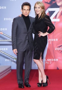 Ben Stiller & wife Christine Taylor attend the Berlin premiere of Zoolander No. 2 held at Cinestar Cinema, Germany on February 2, 2016.