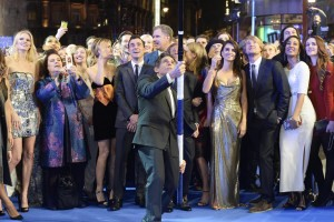Ben Stiller breaks the record for longest selfie stick at the London premiere of Zoolander No. 2 held at Empire, Leicester Square.
