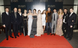 Cast and director of Pride and Prejudice and Zombie at the London premiere