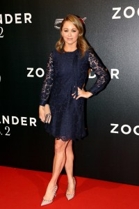 Christine Taylor attends the Rome premiere of Zoolander No. 2 held at Hotel de Russie, Italy on January 30, 2016.