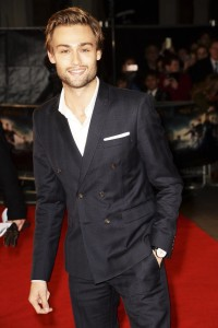 Douglas Booth at the Pride and Prejudice and Zombies London premiere on February 1, 2016 at Vue West End, Leicester Square.