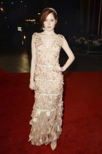 Ellie Bamber at the Pride and Prejudice and Zombies London premiere on February 1, 2016 at Vue West End, Leicester Square.