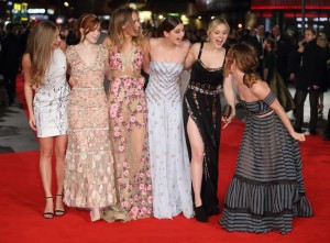 Cast of Pride and Prejudice and Zombies and the London premiere