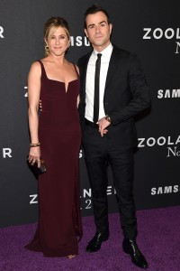 Jennifer Aniston & Justin Theroux attend the New York City premiere for Zoolander No.2