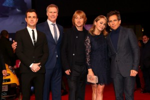 Justin Theroux, Will Ferrel, Owen Wilson, Christine Taylor & Ben Stiller attend the Rome premiere of Zoolander No. 2 held at Hotel de Russie, Italy on January 30, 2016.