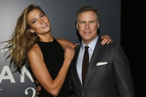 Karlie Kloss and Will Ferrell attend the Spain premiere of Zoolander No. 2 held at Capitol Cinema, Madrid on February 1, 2016.