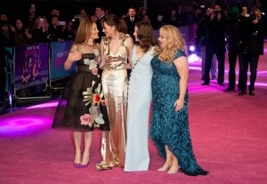 Leslie Mann, Dakota Johnson, Alison Brie & Rebel Wilson attend How to Be Single - European premiere in London at Vue West End, Leicester Square.