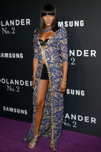 Naomi Campbell attends Zoolander No.2 premiere in New York City.