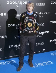 Owen Wilson attends the Spain premiere of Zoolander No. 2 held at Capitol Cinema, Madrid on February 1, 2016.