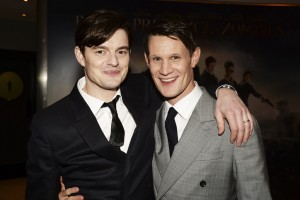 Sam Riley & Matt Smith at the Pride and Prejudice and Zombies London premiere on February 1, 2016 at Vue West End, Leicester Square.