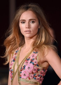 Suki Waterhouse at the Pride and Prejudice and Zombies London premiere on February 1, 2016 at Vue West End, Leicester Square.