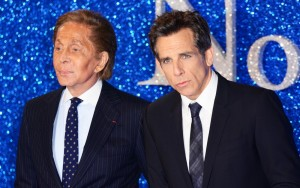 Fashion designer, Valentino and Ben Stiller attend the European premiere of Zoolander No. 2 held at Empire Cinema, Leicester Square, London on February 4, 2016.