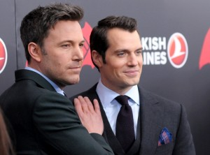 Ben Affleck and Henry Cavill at the New York film premiere of Batman v Superman: Dawn of Justice held at Radio City Music Hall, NYC on March 20, 2016.