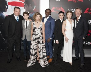 Cast of Gotham at the New York film premiere of Batman v Superman: Dawn of Justice held at Radio City Music Hall, NYC on March 20, 2016.
