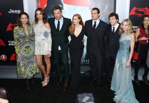 Cast of Batman v Superman: Dawn of Justice at the New York film premiere held at Radio City Music Hall, NYC on March 20, 2016.