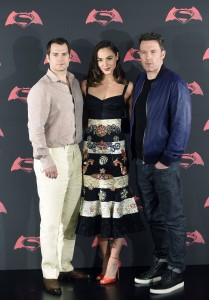 Henry Cavill, Gal Gadot and Ben Affleck at the Mexico film premiere of Batman v Superman: Dawn of Justice held at the National Auditorium, Miguel Hidalgo, Mexico City on March 19, 2016.