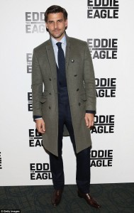 Johannes Huebl attends a screening for Eddie the Eagle in New York City on February 2, 2016.