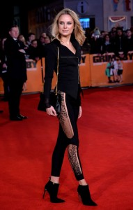 Kimberley Garner attends the world premiere of Grimsby held at Odeon, Leicester Square in London on February 22, 2016.