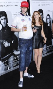 Sacha Baron Cohen & Isla Fisher attends The Brothers' Grimsby premiere in Los Angeles held at Regecncy Village Theatre, Westwood, California.
