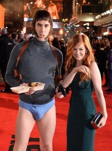 Sacha Baron Cohen & Isla Fisher attend the world premiere of Grimsby held at Odeon, Leicester Square in London on February 22, 2016.