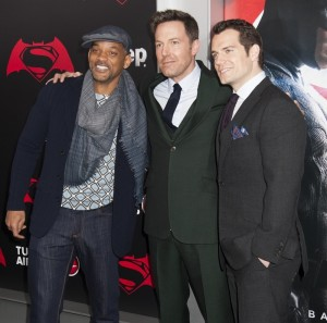 Will Smith, Ben Affleck and Henry Cavill at the New York film premiere of Batman v Superman: Dawn of Justice held at Radio City Music Hall, NYC on March 20, 2016.