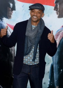 Will Smith at the New York film premiere of Batman v Superman: Dawn of Justice held at Radio City Music Hall, NYC on March 20, 2016.