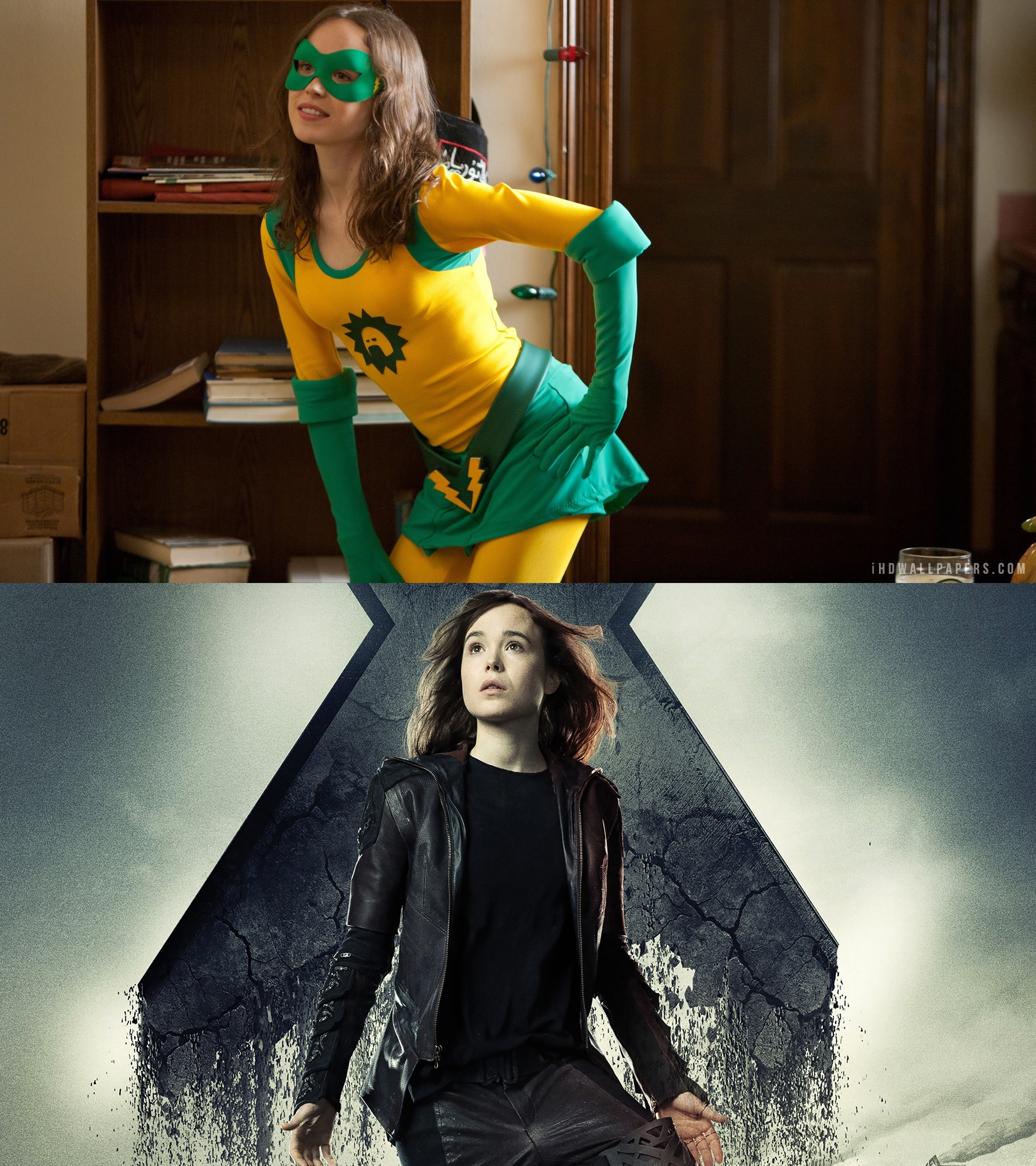 Ellen Page as Super and Kitty Pryde - Actors who have played more than one superhero