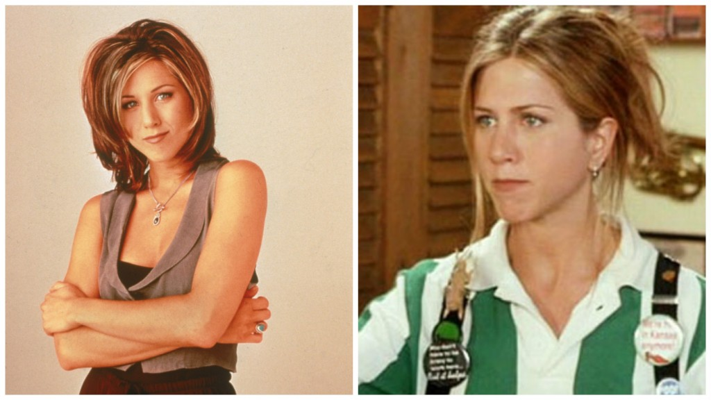Jennifer Aniston in Friends and Office Space