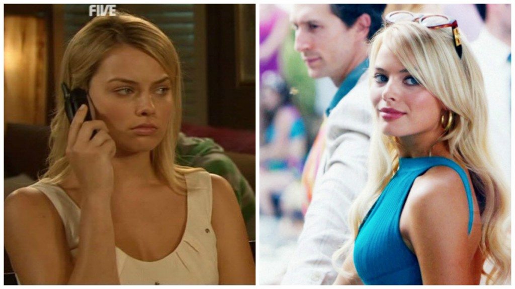 Margot Robbie in Neighbours and Wolf of Wall Street