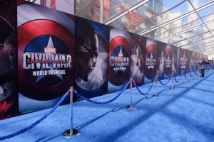 world premiere of Captain America: Civil War held at the Dolby Theatre, Hollywood Blvd, CA on April 12, 2016.