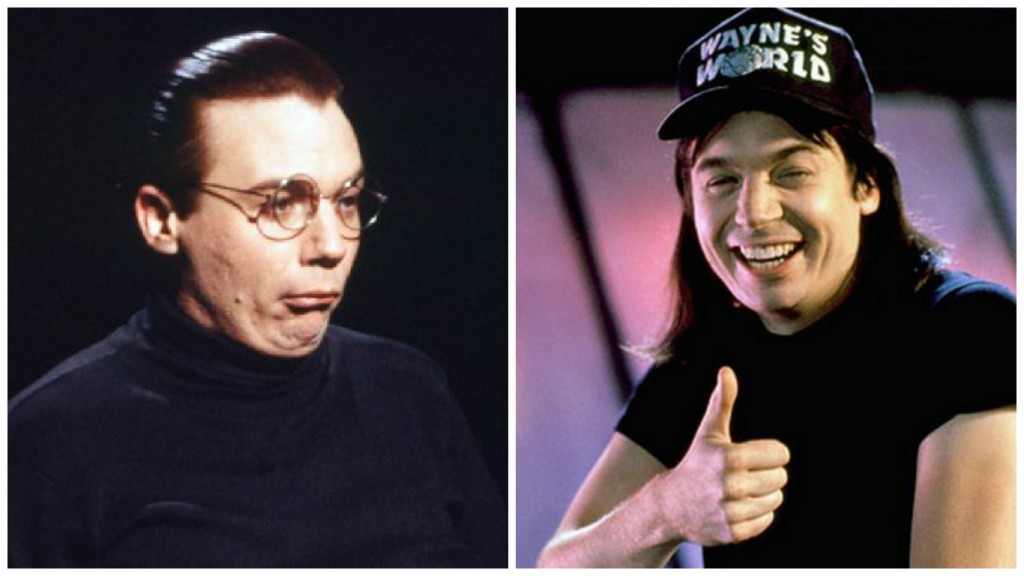 Mike Myers in Saturday Night Live and Wayne's World