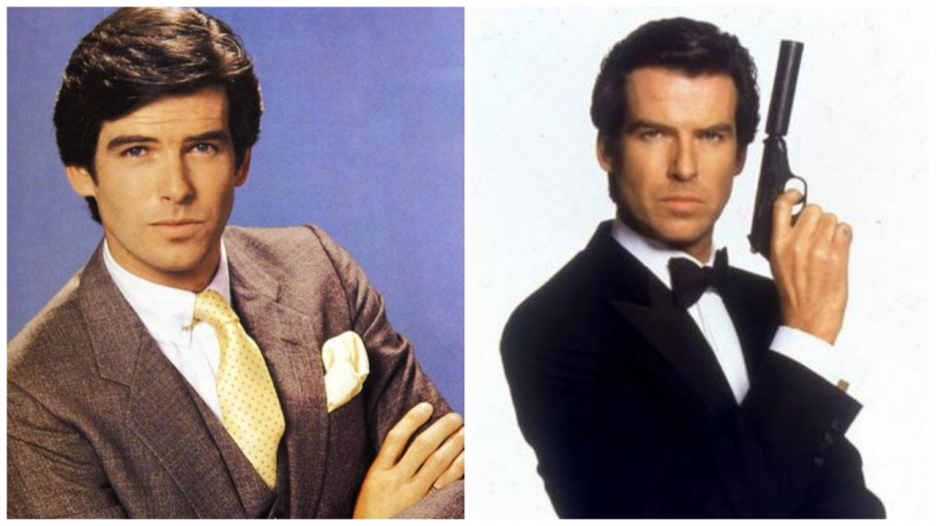 Pierce Brosnan in Remington Steele and James Bond