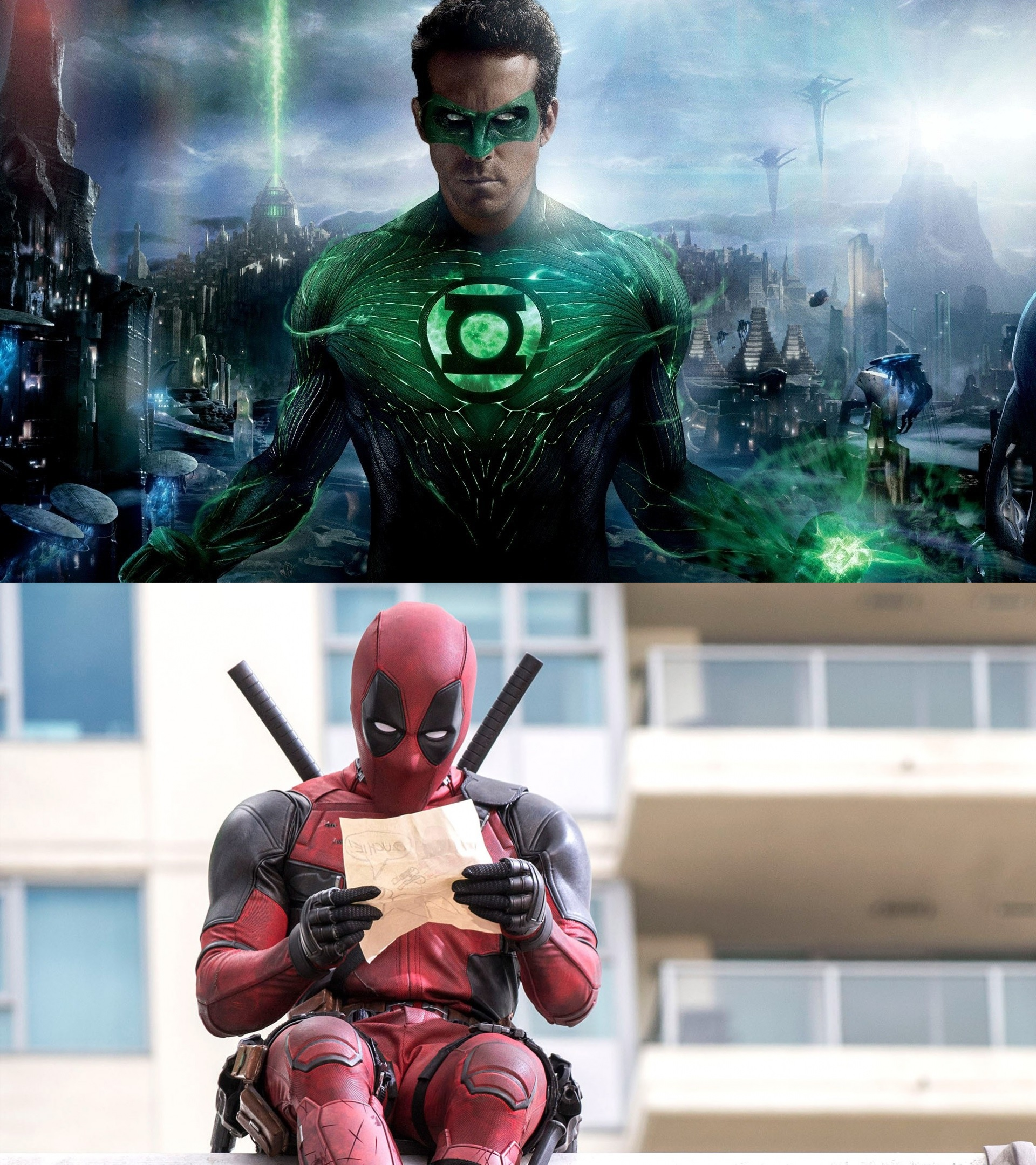 Ryan Reynolds as Green Lantern and Deadpool - Actors who have played more than one superhero