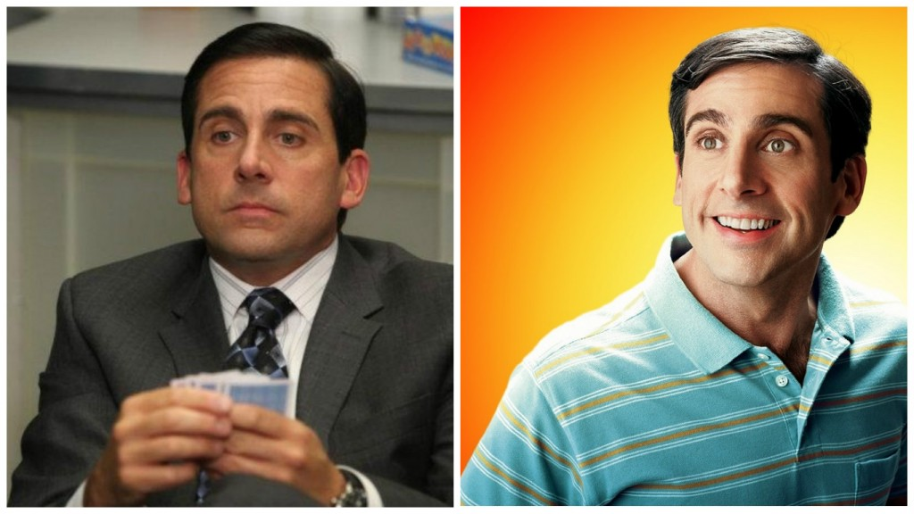 Steve Carell in The Office and The 40 Year Old Virgin