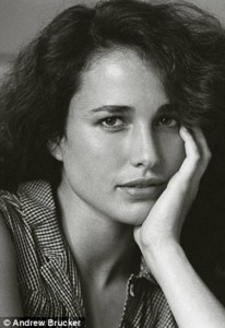 Actress Andie MacDowell headshot