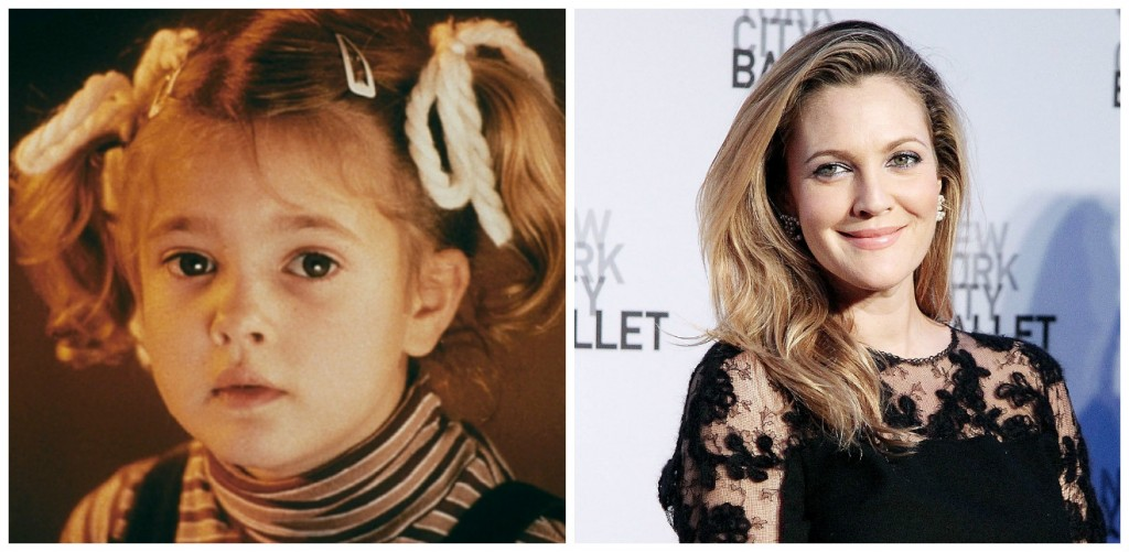 Drew Barrymore Young - Child Stars Then and Now