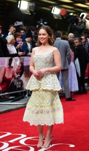 Emilia Clarke at the European premiere of Me Before You held at The Curzon Mayfair, London on Wedneday 25th May 2016.