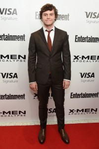 Evan Peters at the New York screening of X-Men: Apocalypse held at Entertainment Weekly on Tuesday May 24, 2016.