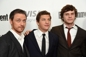 James McAvoy, Tye Sheridan and Evan Peters at the New York screening of X-Men: Apocalypse held at Entertainment Weekly on Tuesday May 24, 2016.