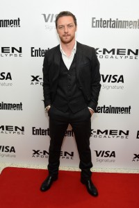 James McAvoy at the New York screening of X-Men: Apocalypse held at Entertainment Weekly on Tuesday May 24, 2016.