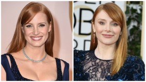 Jessica Chastain and Bryce Dallas Howard Celebrity Look A Likes
