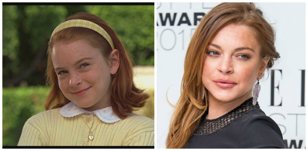 Lindsay Lohan Young - Child Stars Then and Now