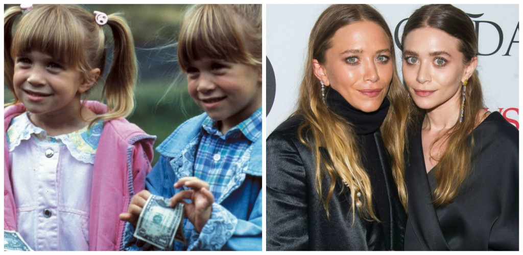 Mary Kate and Ashley Olsen Young - Child Stars Then and Now