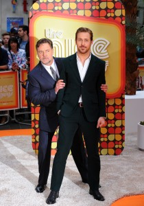 Russell Crowe and Ryan Gosling at The Nice Guys UK Premiere held at the Odeon, Leicester Square, London on Thursday May 19, 2016.