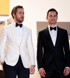 Ryan Gosling and Matt Bomerat The Nice Guys premiere during the 69th Annual Cannes Film Festival held at Palais des Festivals on Sunday 15th May 2016