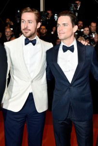 Ryan Gosling and Matt Bomer at The Nice Guys premiere during the 69th Annual Cannes Film Festival held at Palais des Festivals on Sunday 15th May 2016