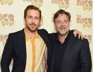 Ryan Gosling and Russell Crowe at The Nice Guys New York screening held at Metrograph theatre in New York City on Thursday 12th May 2016