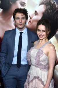Sam Claflin and Emilia Clarke at the New York premiere of Me Before You on Monday May 23, 2016 at AMC Leows Lincoln Square, New York City.