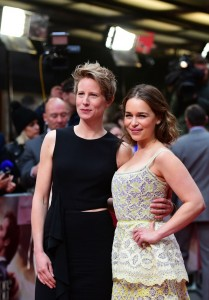 Thea Sharrock and Emilia Clarke at the European premiere of Me Before You held at The Curzon Mayfair, London on Wedneday 25th May 2016.