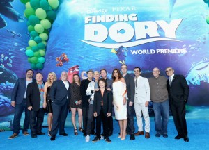 Cast and Crew of Finding Dory at the world premiere on June 8, 2016 at the El Capitan Theatre, Hollywood Blvd, Los Angeles, CA.